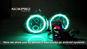 Cyron Led Light Strips by 7inch Led Headlight Rgb Color Controled By App Vedio Youtube