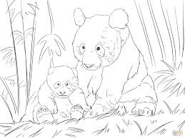 cute panda family coloring page free printable coloring pages