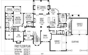 Five Bedroom House Plans 4500 Square Foot House Floor Plans 5 Bedroom 2 Story Double Stairs