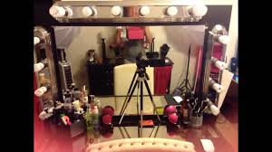 Homemade Makeup Vanity Ideas Diy Makeup Vanity With Lighting Youtube
