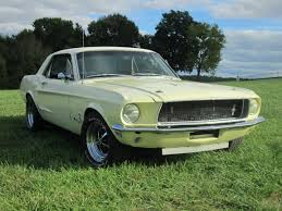 Green And Black Mustang Mustang 1968 2 Bbl