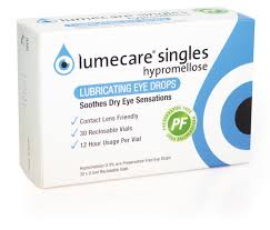 lumecare products dry eye hypromellose eye drops singles