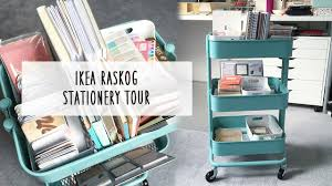 Raskog Cart Ikea Raskog Cart Stationery Tour Youtube