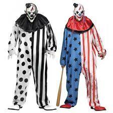 Scary Costume Halloween Scary Clown Costume Ebay