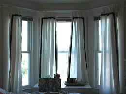 drapes for bay window curtain ideas curtains rods windows big