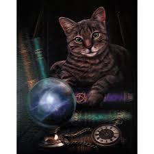 Pagan Home Decor by Fortune Teller Cat Canvas Print Lisa Parker Pagan Art