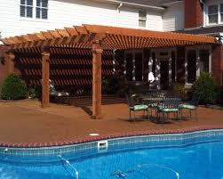 build a cabana attached pergolas and decks u2014 peaceful settings