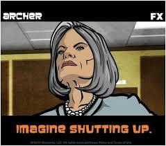 Archer Danger Zone Meme - imagine shutting up adult swim pinterest thursday sterling