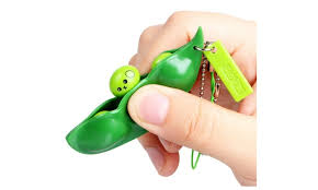 peas in a pod keychain fidget toys extrusion bean pea stress relieving keychain 3 or