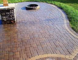 the progression of a patio paver project brentwood landscape
