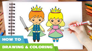 how to draw coloring pages how to draw little king and queen coloring pages l drawing videos
