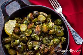 tangy roasted brussels sprouts make an easy side dish my s belly