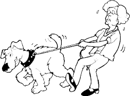 coloring page of a big dog dog coloring pages walking the dog coloring page color this