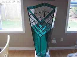 hand crafted stained glass decorative vase by chapman enterprises
