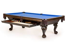 Dining Room Pool Table Blue Dining Room Pool Table Enhanced With Large Pull Out Drawer