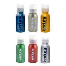 endura body art endura metallic airbrush liquids camera ready