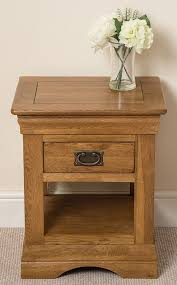 Oak Side Table Rustic Solid Oak L Side Table Co Uk Kitchen Home