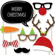 christmas photo booth props christmas party photo booth props kit 20 count
