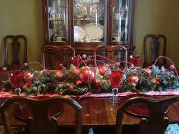Christmas Dining Room Decorations - how to decorate a christmas table dale tiffany buffet lamps dining