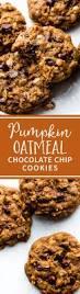 chewy pumpkin oatmeal chocolate chip cookies sallys baking addiction