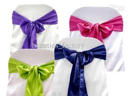 bows for chairs wonderful 2017 hot pink satin chair sashes chair cover bow wedding