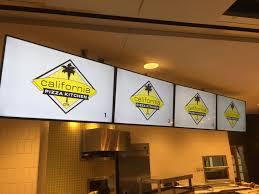 Menu California Pizza Kitchen by California Pizza Kitchen At Dfw Utilized Digital Menu Boards