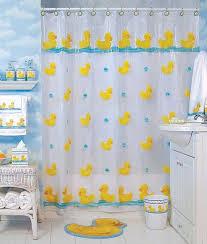rubber ducky bathroom decor Shower Curtain