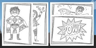 superheroes mindfulness colouring pages esl superheroes