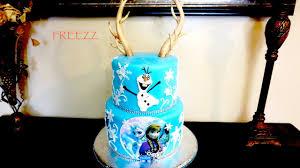 antlers frozen fondant theme cake