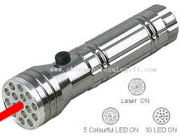15pcs led torch with laser light led flashlight and torch