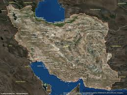 map iran satellite map of iran travel maps and major tourist attractions maps