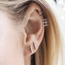bar earrings silver diamante small bar stud earrings