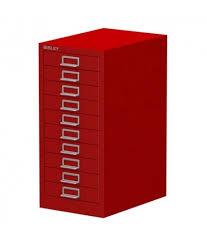 Bisley 5 Drawer Cabinet Multidrawer Cabinet Red 10 Drawer 590h X 279w X 380d Mm