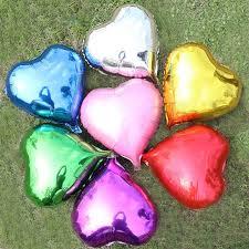 Aliexpresscom  Buy Heart Balloons Shiny Aluminum Foil Balloons