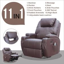 Sofa Chair Recliner Msg Recliner Chair Leather Ergonomic Swivel Heated With