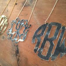 my monogram necklace 100 best monogram jewelry images on monogram monogram