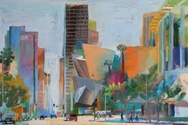 saatchi grand ave downtown los angeles painting by alex schaefer