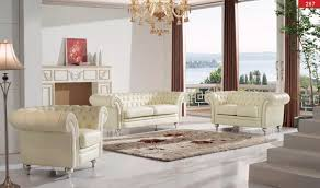 Free Living Room Furniture 287 Leather Living Room Set In Cream Free Shipping Get Furniture