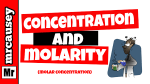 molarity solutions concentrations and dilutions youtube