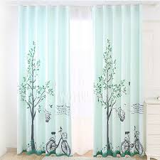 Nursery Curtains Fresh Light Green Poly Cotton Nursery Curtains Printed With Tree