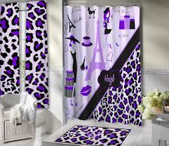 Purple Shower Curtain Sets - lavender paris shower curtains paris themed bathroom sets