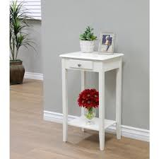 Storage End Table Megahome White Storage End Table Wh203 The Home Depot