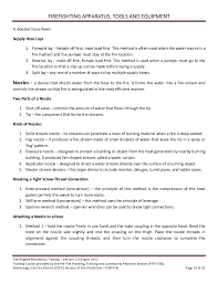 Firefighter Job Description Resume by Volunteer Fire Brigade Training Module 3 Firefighting Apparatus Tool U2026