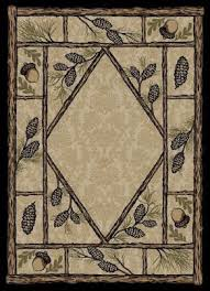Rustic Lodge Rugs Pinecone Decor And Pinecone Cabin Rugs The Cabin Shack