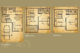townhouse floor plan philippines homes zone
