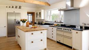 Cream Shaker Kitchen Cabinets Modern Country Cottage Kitchen Shabby White Wooden Kitchen