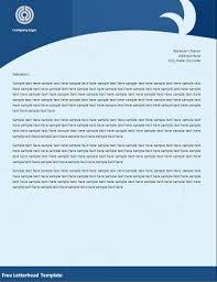 free letterhead template best word templates