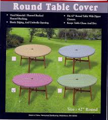 Round Elastic Tablecloth Round Patio Tablecloth Patio Tablecloth With Ring For Umbrella