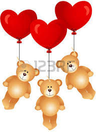 teddy bears inside balloons teddy holding blank heart royalty free cliparts vectors and
