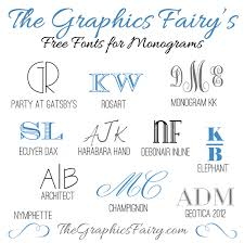 initial fonts for monogram favorite free fonts for creating monograms the graphics fairy